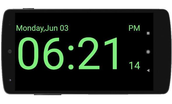 Full Screen Digital Night Clock poster