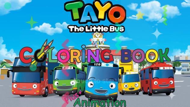 Coloring Book Cartoon Bus poster