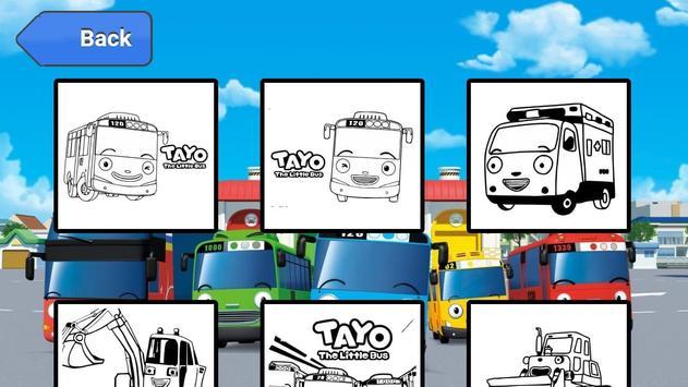 Coloring Book Cartoon Bus screenshot 1