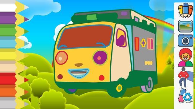 Coloring Book Cartoon Bus screenshot 2