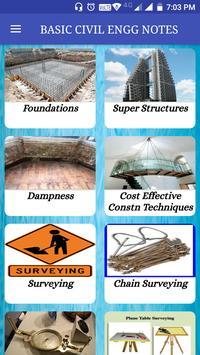 Basic Civil Engineering Books & Lecture Notes تصوير الشاشة 1