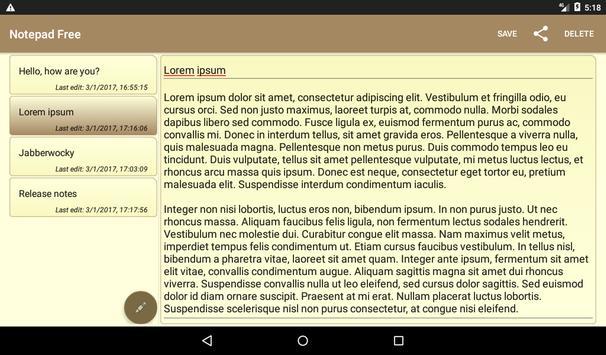 Notepad Free Ekran Görüntüsü 6