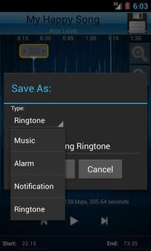 MP3 Cutter and Ringtone Maker♫ ảnh chụp màn hình 3