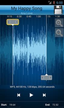 MP3 Cutter and Ringtone Maker♫ ảnh chụp màn hình 2