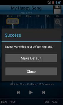 MP3 Cutter and Ringtone Maker♫ ảnh chụp màn hình 4