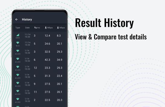 Tes kecepatan internet Lite - SpeedTest Master syot layar 1