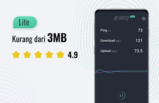 Tes kecepatan internet Lite - SpeedTest Master poster