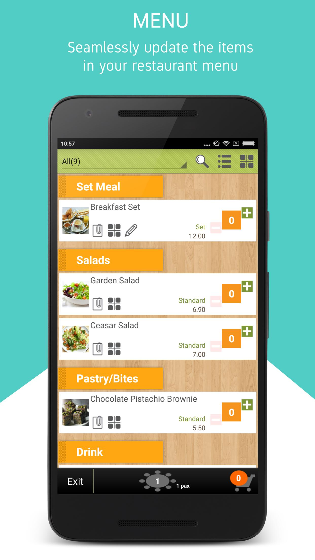 eWaiter, eKitchen and Customer Self Ordering for Android - APK Download