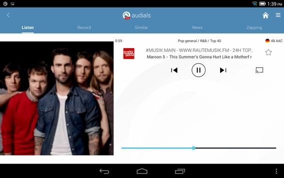 Radio Player, MP3-Recorder by Audials screenshot 13