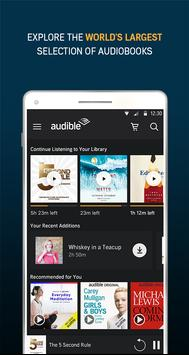Audiobooks from Audible पोस्टर