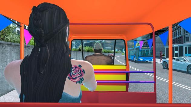 Modern Tuk Tuk Auto Rickshaw: Driving Sim Games screenshot 7