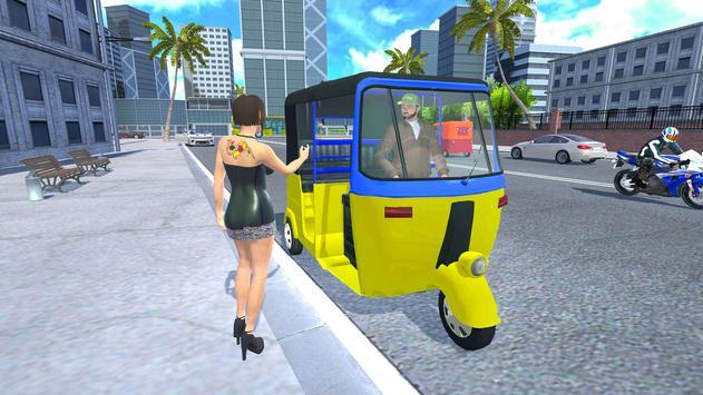 Modern Tuk Tuk Auto Rickshaw: Driving Sim Games poster