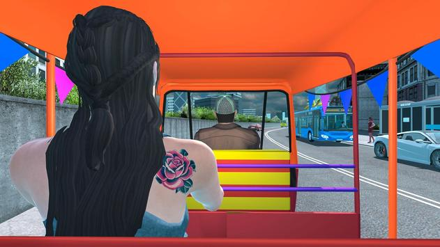 Modern Tuk Tuk Auto Rickshaw: Driving Sim Games screenshot 1