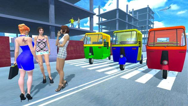 Modern Tuk Tuk Auto Rickshaw: Driving Sim Games screenshot 2