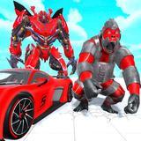 Angry Gorilla Robot Transform: Car Robot Games