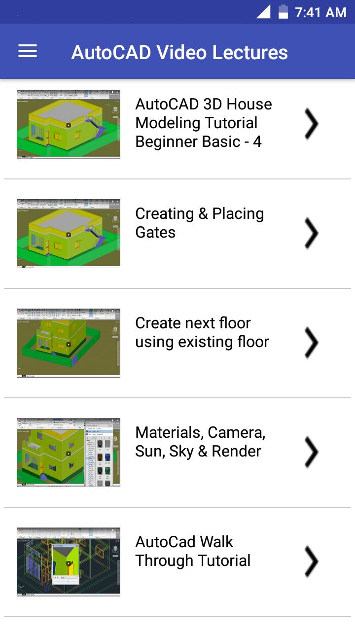 Autocad Learning Tutorial Videos 2019 2d 3d For Android