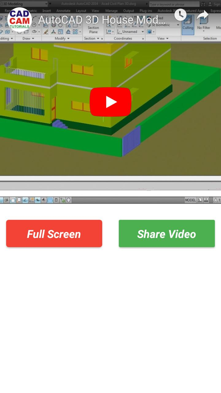 AUTOCAD Learning Tutorial Videos 2019 - 2D & 3D for Android - APK