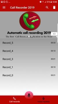 Automatic call recorder 2019 screenshot 3