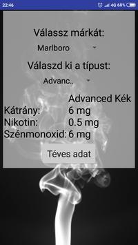 Cigaretta erősség poster