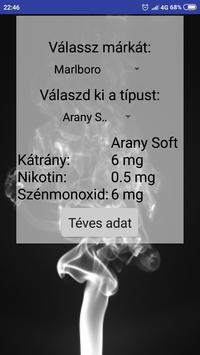 Cigaretta erősség screenshot 1