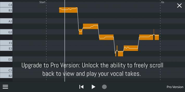 Nail the Pitch - Vocal Pitch Monitor capture d'écran 2