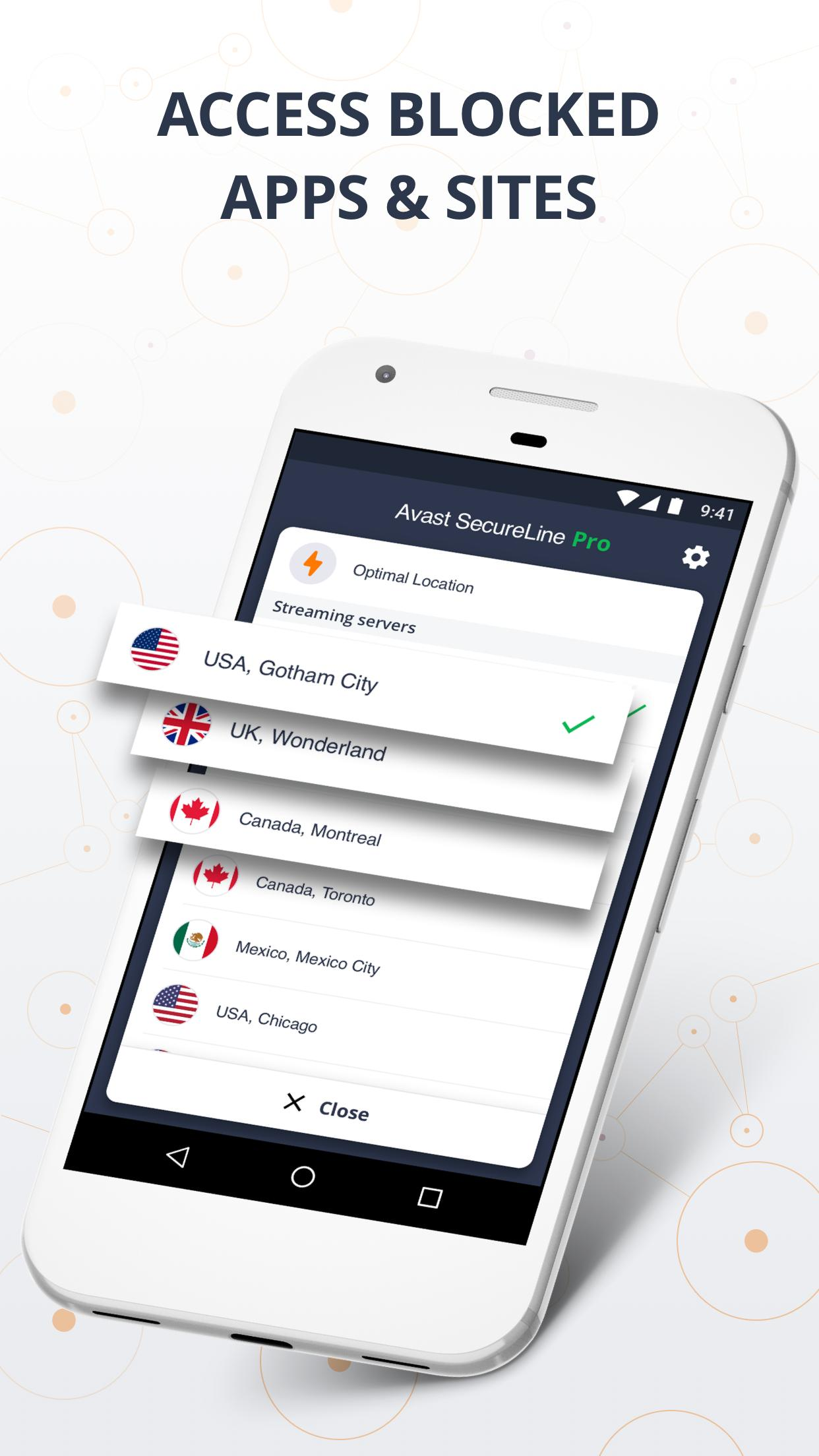 VPN SecureLine by Avast - Security & Privacy Proxy for