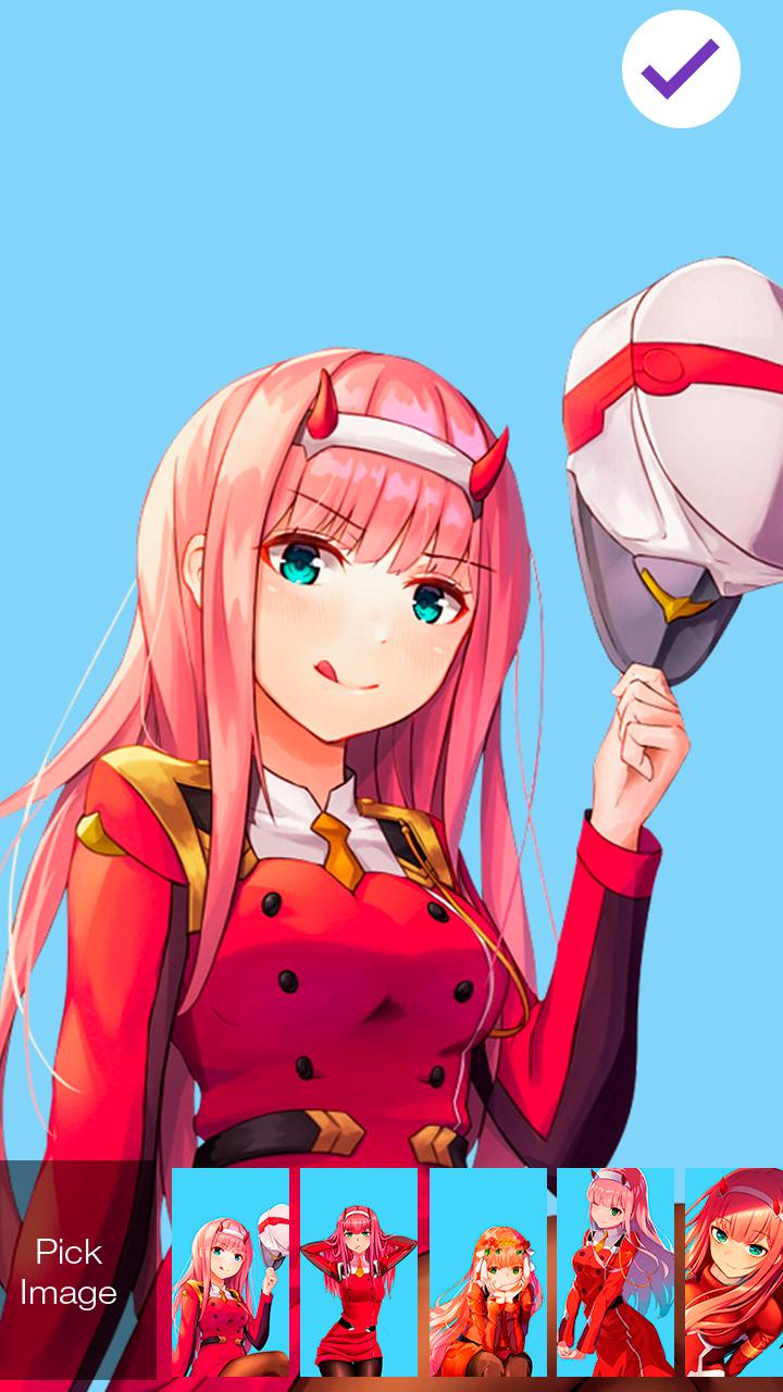 Darling Two Cute Girl Zero Anime Screen Lock for Android - APK