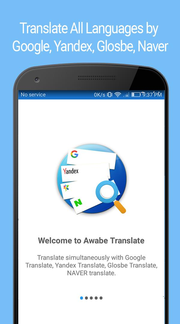 Translate All Languages by Google, Yandex, Glosbe for