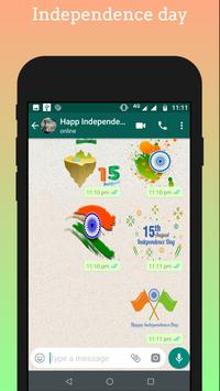 Independence day - 15 August Stickers for Whatsapp screenshot 1