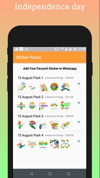 Independence day - 15 August Stickers for Whatsapp screenshot 3