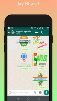Independence day - 15 August Stickers for Whatsapp screenshot 6