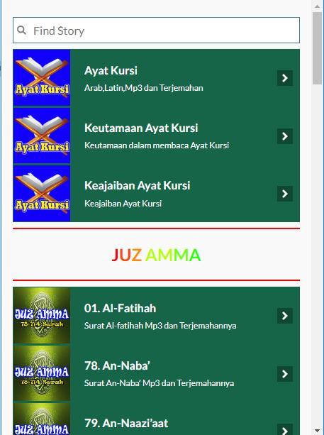 Ayat Kursi Dan Juz Amma For Android Apk Download