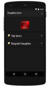 Daughtry Lyrics poster