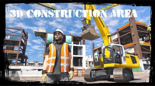 Excavator Simulator Game Free poster