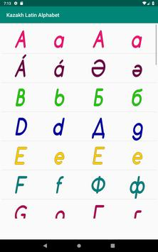 Kazakh Latin alphabet, Qazaq ABC in Latin script screenshot 19