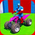Impossible Ramp Stunts: Superhero Quad Bike