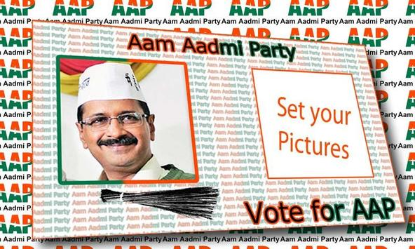Aam Aadmi Party Photo Frame poster