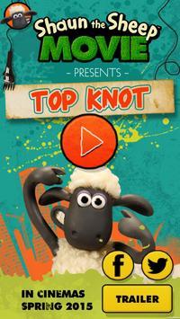 Shaun the Sheep Top Knot Salon poster