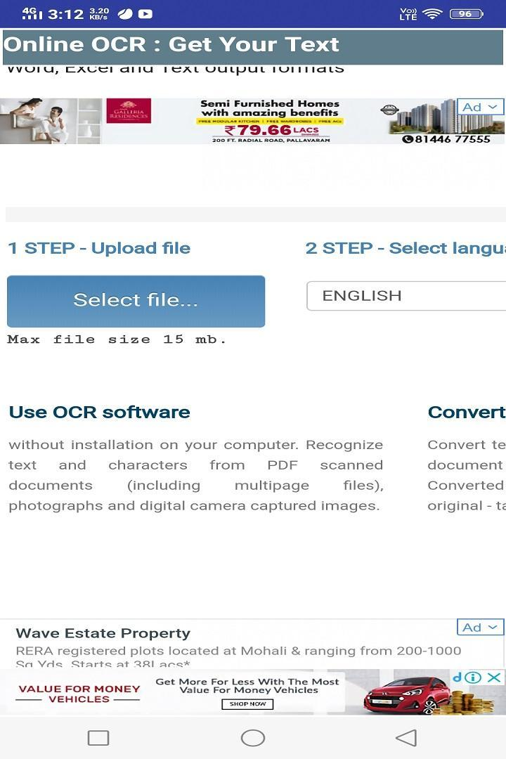 Online OCR : Get Your Text From Image or PDF for Android