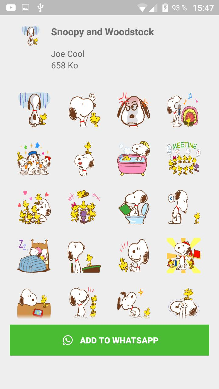 Snoopy Bus Stickers For Whatsapp Wastickerapps Hd For