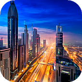 City Live Wallpaper (backgrounds & themes) 图标