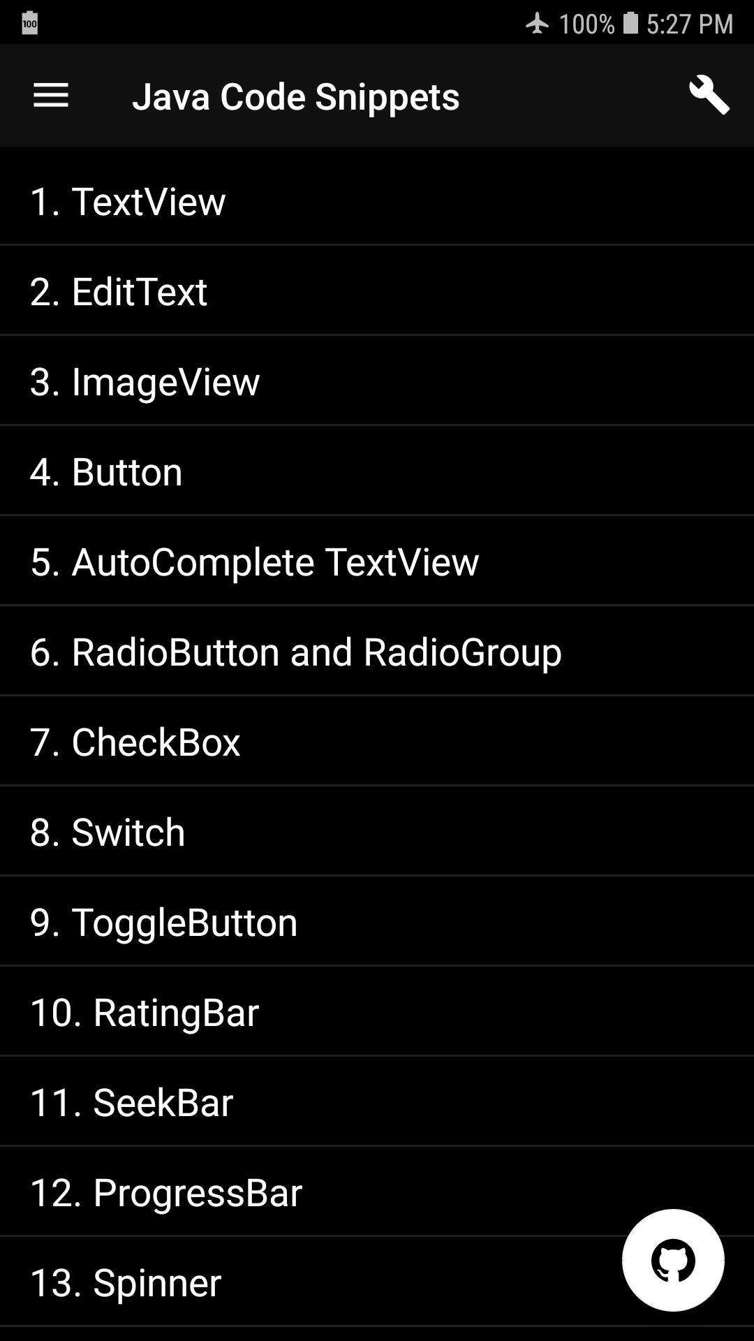 Java Code Snippets for Android - APK Download