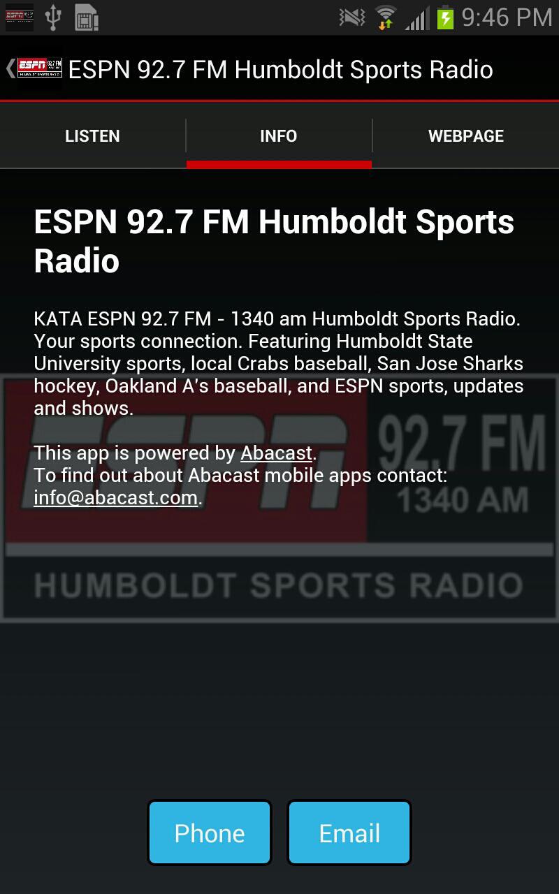 Espn 92 7 Fm Humboldt Sports For Android Apk Download