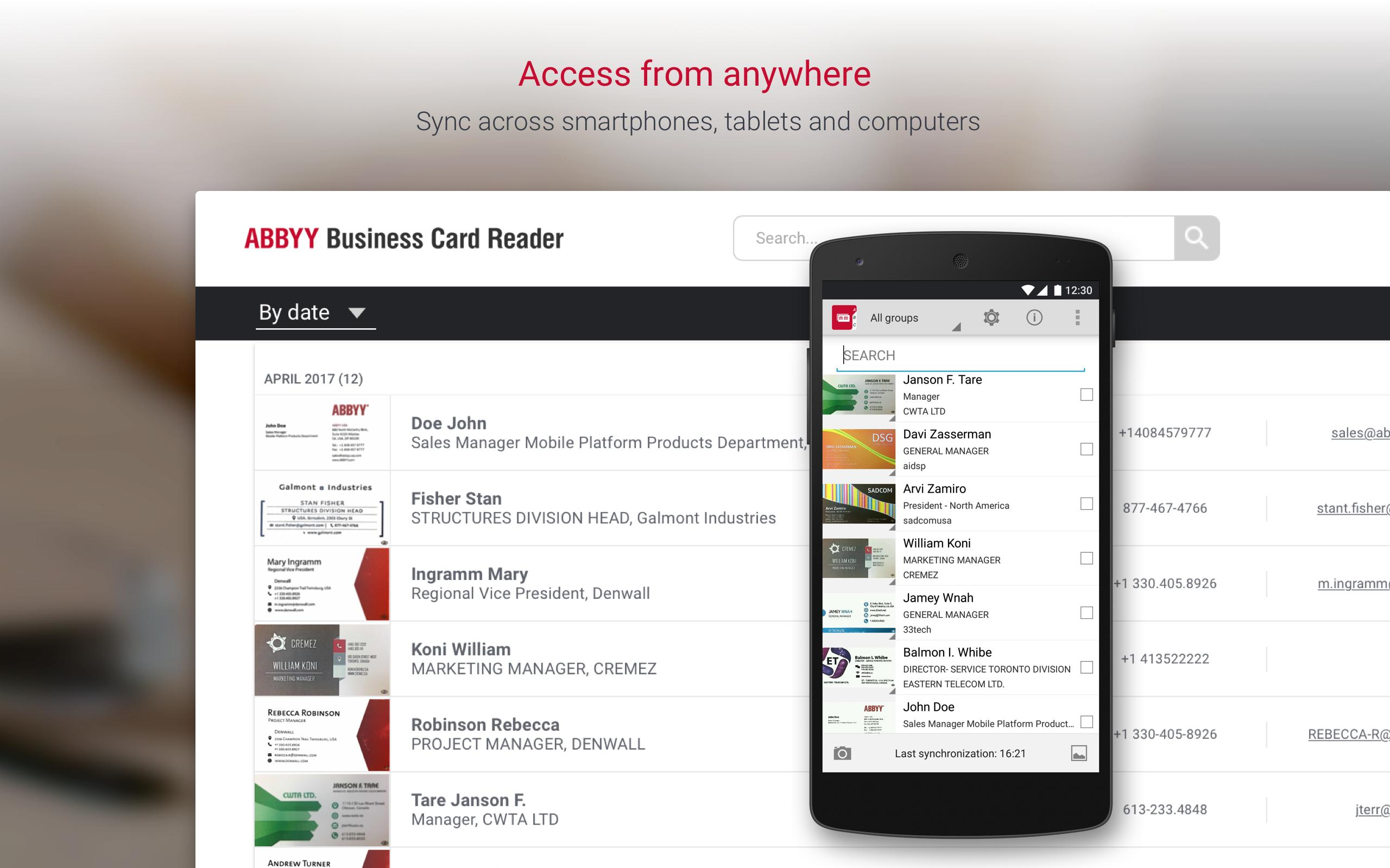Business Card Reader Business Card Scanner For Android