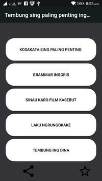 Sinau Basa Inggris ( learn more than 15000 words ) poster