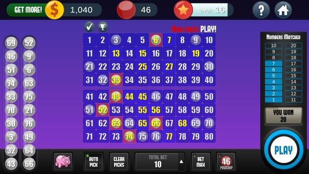 Keno Free Keno Game screenshot 3