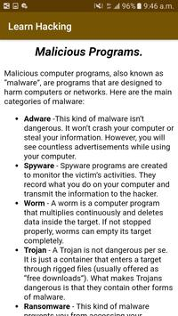 Learn Hacking for begenners screenshot 1