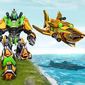 Angry Shark Robot Submarine Shooting Attack icon