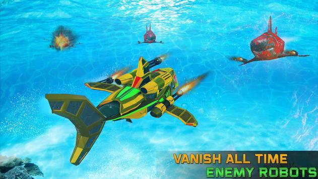Angry Shark Robot Submarine Shooting Attack screenshot 1
