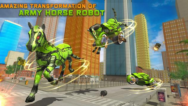 Army Horse Robot Transform: Bike Shooting Games screenshot 9